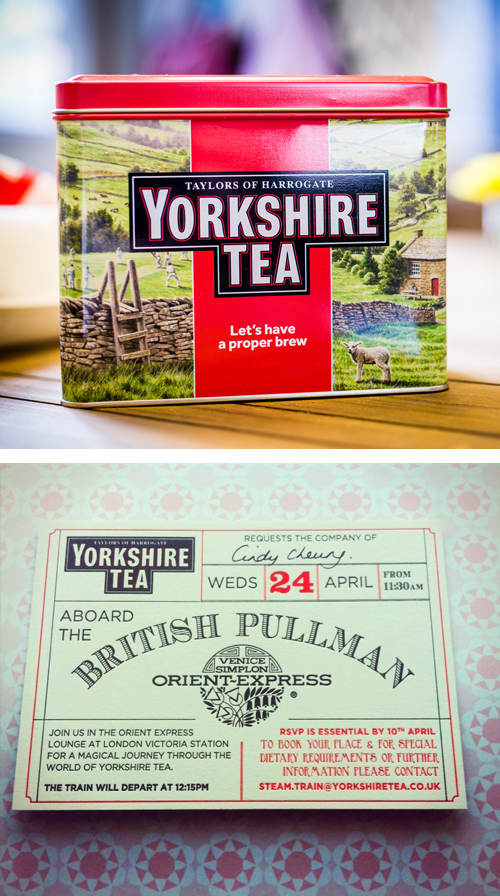 Yorkshire Tea on the London Orient Express