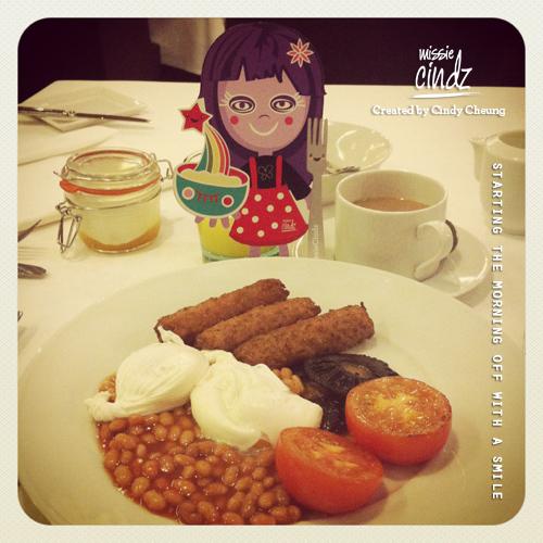 Nice cooked hot breakfast, The New Ellington, Leeds