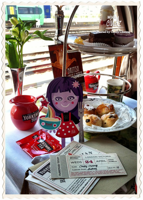 Yorkshire Tea on the Orient Express afternoon high tea