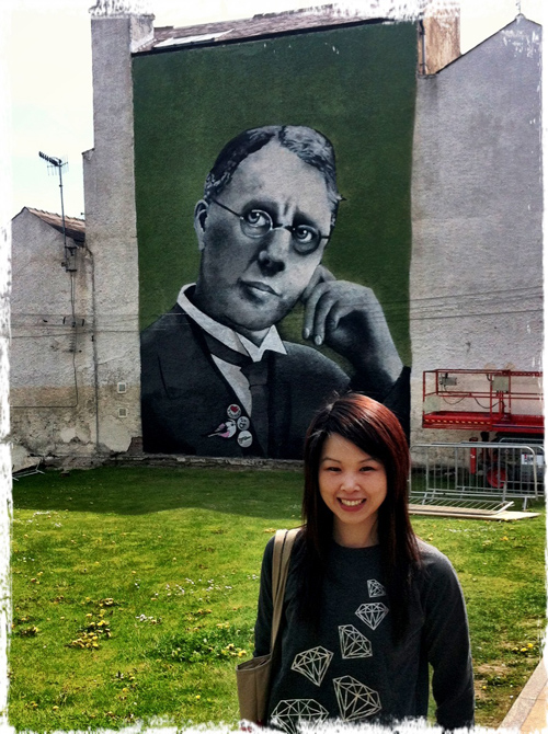 Wall mural of Harry Brearley, discoverer of stainless steel by Faunagraphic