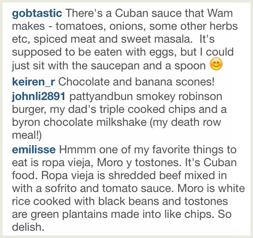 Your favourite foods on Instagram