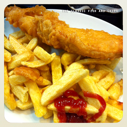 The British classic, good ol' fish and chips!