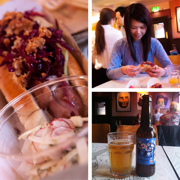 London made hot dogs and local beers – I'm loving summer already!