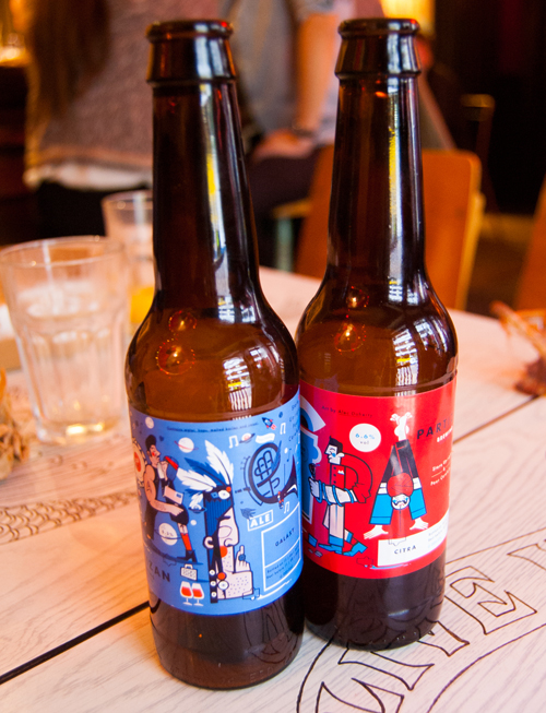 Lovely branding from Partizan, a small microbrewery in London