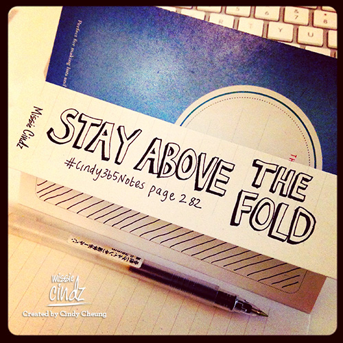 Keep yourself above the fold