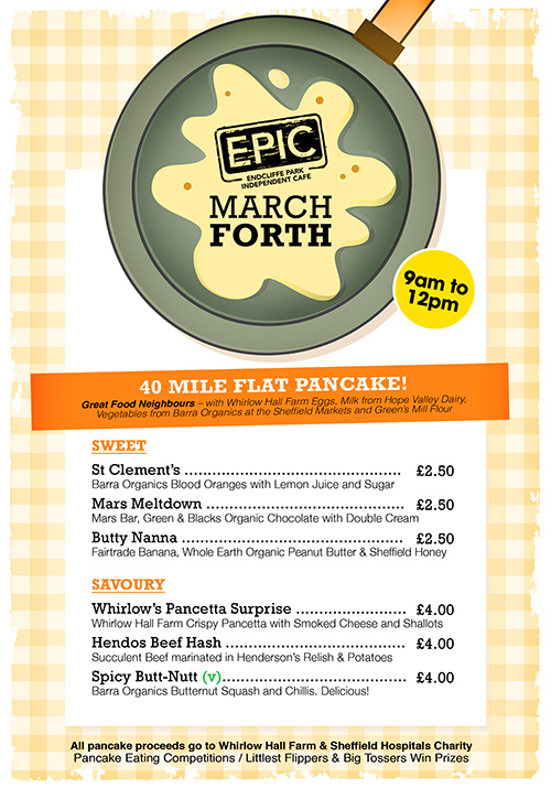 Epic March Forth Pancake Menu 2014