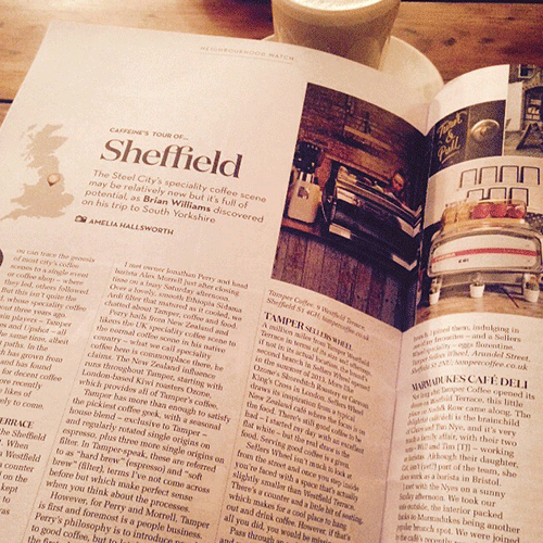 Sheffield featured in this month's Caffeine magazine