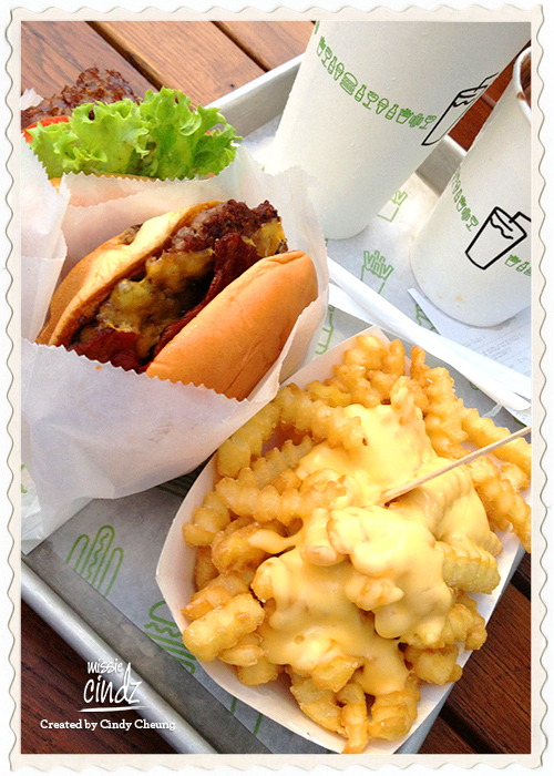 Missie Cindz at Shake Shack