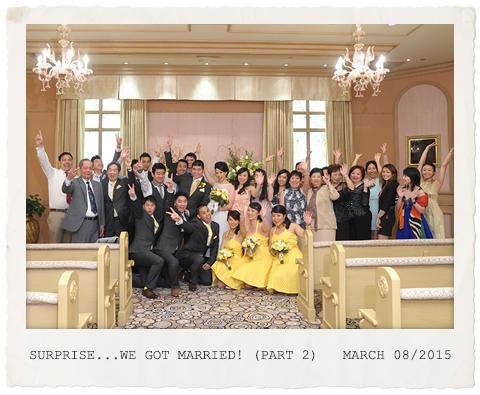 Surprise....we got married! (part 2)