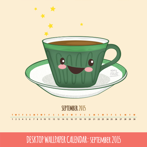 Missie Cindz September Desktop Calendar