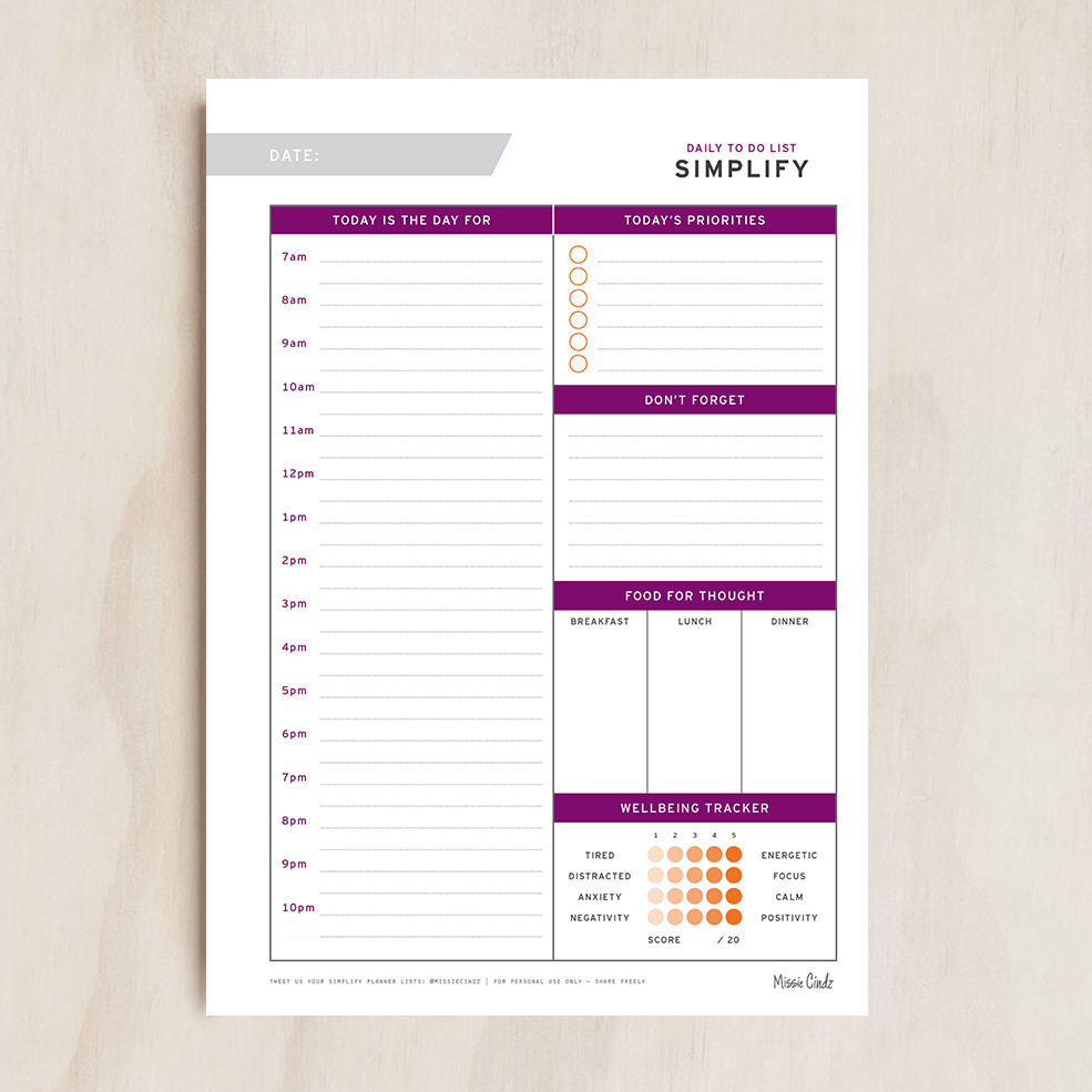 graphic about Free to Do List Printables named Cost-free Each day Towards Do Checklist Printables -
