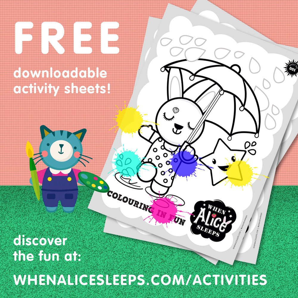 When Alice Sleeps Activity Sheets