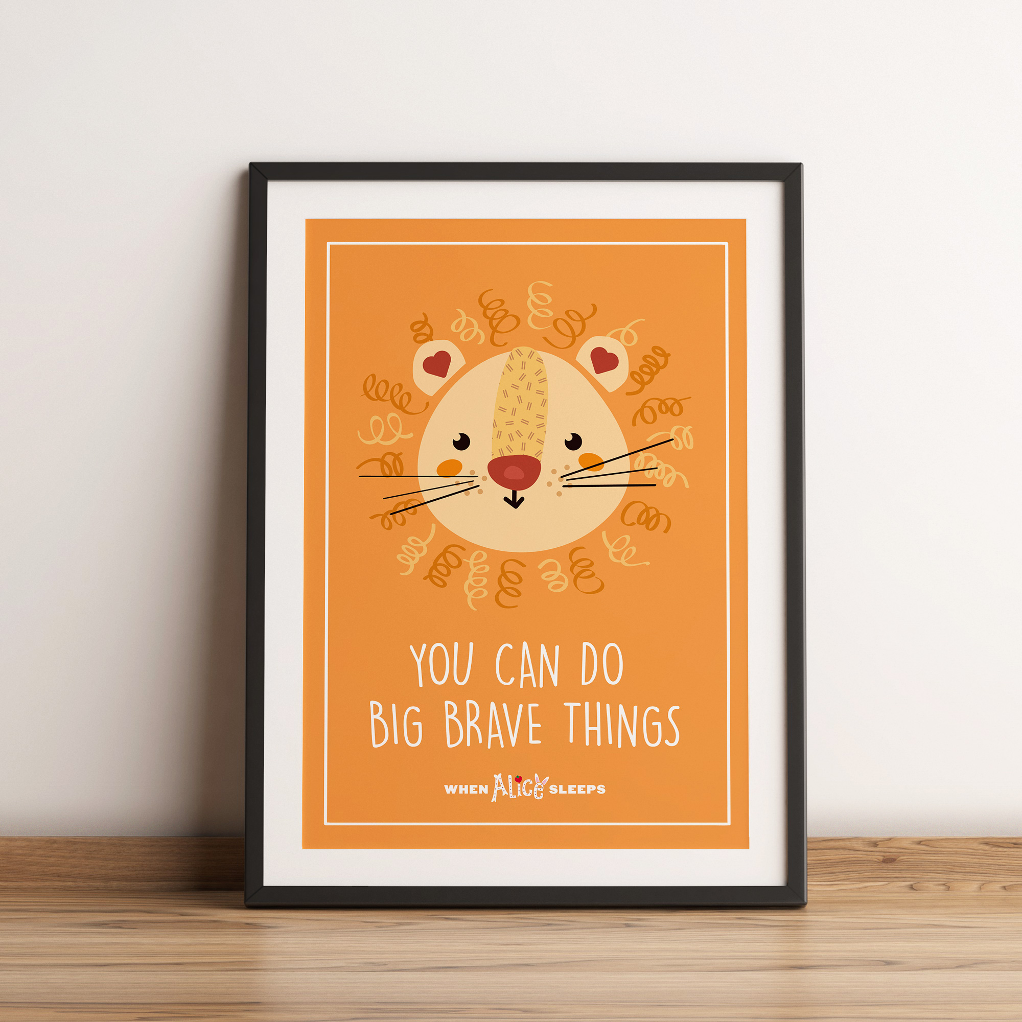 You can do big brave things print
